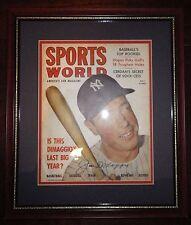 Joe DiMaggio Signed/Framed/Matted Sports World Orig 1949 Volume 1 No. 2 Magazine