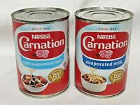 Evaporated Milk Nestle Carnation Light or Whole 410g Tin Dessert Pudding Topping