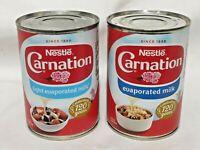 Evaporated Milk Nestle Carnation Light or Whole 410g Tin Dessert Pudding Topping