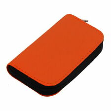 Orange Memory Card Wallet 22 - Micro SD CF Protective Storage Holder Pouch Case