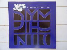YES 2001 Symphonic Tour Concert Program Tour Book blue