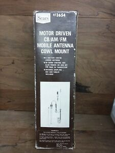 Vintage Sears Motor Driven CB AM FM Mobile Power Antenna Motorized Complete New