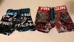 FREEGUN BOYS COMPRESSION BOXER BRIEF SZ 6 - 8 NEW WITH TAGS TW0 FOR ONE MONEY FS