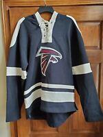 OTS NFL Jacksonville Jaguars Women's Grant Lace Up Pullover Hood, Jet Black,