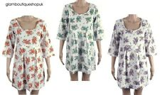 BN WHITE STUFF FLORAL SUMMER COTTON TUNIC DRESS RED,PURPLE,GREEN SIZE 10~16 £15