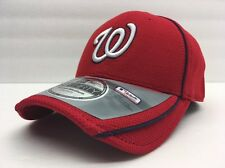 Red Washington Nationals Stretch Fitted Baseball Hat Small-Medium MLB Licensed