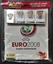 SET COMPLETE ALBUM + ALL STICKERS TO STICK PANINI EURO AUSTRIA-SWITZERLAND 2008