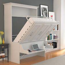 URBAN LOFT: ALEGRA Full Wall Bed / Easy Installation White with Desk Combination