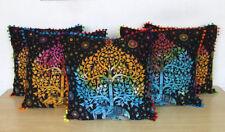"5 Pcs Set Of 16X16"" Indian Pillow Cushion Cover Elephant Tie Dye Room Decorative"