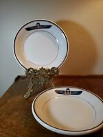 2 VTG Soup Salad Bowls Vitrified Shenango Pottery Krenning Westermann China Co