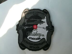 MILITARY PATCH HOOK & LOOP CHARLIE COMPANY 2/159 AVIATION WHISKEY ATTACK BLEND