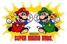 Super Mario Brothers 1989 POSTER Nintendo Luigi Rare Video Arcade Game Mari Bros