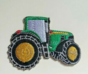 Green Tractor Farming Agricultural Sew On Iron On Patch Badge