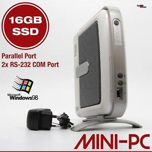 SUPER MINI-COMPUTER PC FÜR WINDOWS 98 SE OLD DOS GAMES 16GB SSD RS-232 PARALLEL
