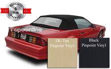 Camaro & Firebird Convertible Top With Plastic Window & Inst. Video, Vinyl 90-93