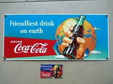 Emailleschild Coca Cola 18 x 42 cm
