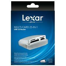 Lexar® MULTI-CARD 25-IN-1 USB  3.0 Card Reader CF/SD/MicroSD/MS Duo/miniSD/xD