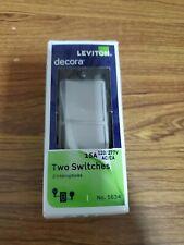 Leviton Decora 15A 120V Two Switches - No 5634 White