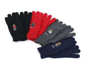 Polo Ralph Lauren Bear Gloves -- 3-colors