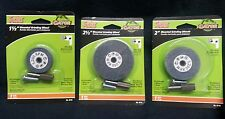 3 pack Gator Power Mounted Grinding Wheels for Drills 1 1/2, 2 in, &  2 1/2 inch