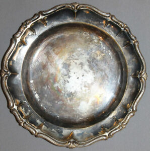 ANTIQUE ART DECO GERMAN MUSSBACH SILVER PLATED BOWL PLATE