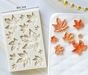 Leaf Silicone Fondant Mould Maple Leaves Cake Baking Chocolate Icing Mold Autumn