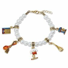 Chef Cooking Charm Bracelet Gold Whisk-Mixer-Cook Book-Utensils-Chef Hat