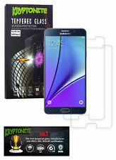 2x Pack KRYPTONITE Protectores de Pantalla de Vidrio Templado para Galaxy Note 5