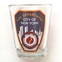 Shot Glass FDNY City of New York Fire Department  Preowned