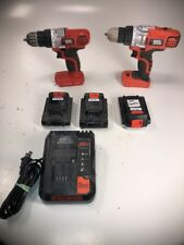 "Black & Decker LDX120 20V Li-Ion 3/8"" Cordless Drill/Driver w/ 2 Battery Charger"