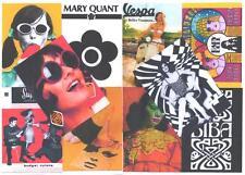 10 POSTCARDS. MOD, TWIGGY,BIBA, MARY QUANT,  RETRO,  SWINGING 60's.