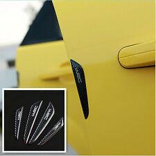 4Pcs Black Carbon Fiber Car Side Door Edge Protection Guards Trims Stickers NEW