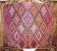 Ethnic Fabric Effect Lamp Shade Lampshade shabby chic FREE GIFT