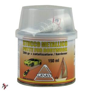 Stucco metallico per carrozzeria auto bicomponente con catalizzatore 150 ml