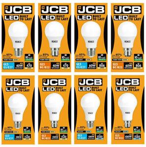 LED GLS JCB Bulbs 6w = 40w 10w = 60w 15w = 100W Warm. Cool, Daylight ES BC Screw