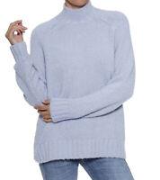 Herrlicher Stehkragen-Pullover Labella kuscheliger Damen Woll-Pullover Blau