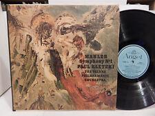 Mahler Symphony No 1 Paul Kletzki Vienna Philharmonic U.S. Angel 35913 Clean LP