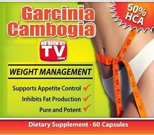 One (1) Bottle (60Tabs) As Seen On Dr. TV (1.7 Oz) Garcinia Cambogia Fat Burner!