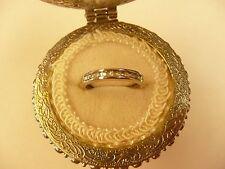 10k White Gold Round Diamonds Wedding Band .09TCW L@@K