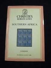 CHRISTIE'S ROBSON LOWE AUCTION CATALOGUE 1986 SOUTHERN AFRICA