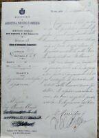 1905 273) LETTERA DELL'ONOREVOLE DEL BALZO DA SAN MARTINO VALLE CAUDINA AVELLINO