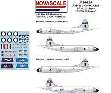 """RAAF P-3B&C Orion """"Hi-Vis"""" Decals 1/144 Scale N14425"""