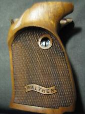 Walther P5 Fine English Walnut Checkered THUMBREST Pistol Grips w/BannerLogo NEW