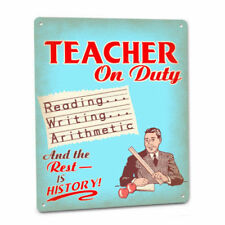 Teacher On Duty Sign Male Elementary Middle School High College Wall Decor Gift