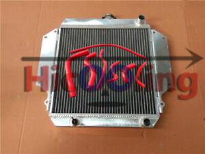 Aluminum radiator + RED hoses for SUZUKI SIERRA 1.0 1.3 SJ410/413 1981-1996 MT