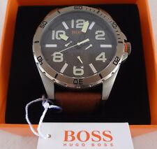 XXL Herrenuhr (48/51mm) von Hugo Boss orange #HB240 große Uhr mit Multifunktion