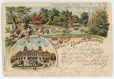 Gruss aus dem Kolner Volksgarten KOLN COLOGNE Germany Vintage 1904 Postcard