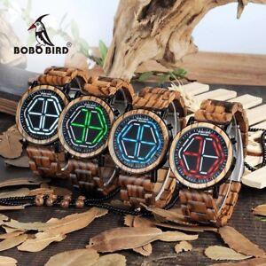 BOBO BIRD WP13 Brand Design Digital Watch Night Vision Wooden Watch Tokyoflash