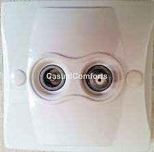 DOUBLE TV & SATELLITE SCREENED FLUSH OUTLET PLATE,2 GANG COAX F TYPE & TV SOCKET