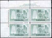 Canada Mint NH VF BLOCK Scott #334 50c 1953 Textile Stamps